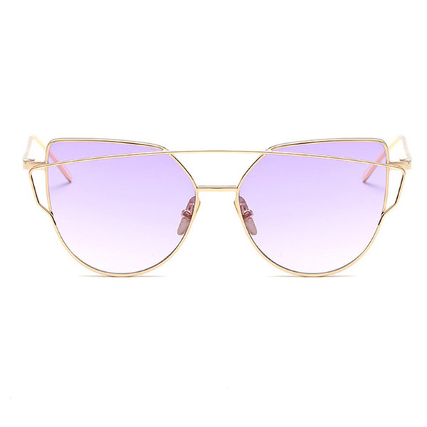ZUCZUG Occhiali da sole Donna Luxury Cat eye Hot Design Specchio Flat Rose Gold Vintage Cateye Fashion occhiali da sole lady Eyewear
