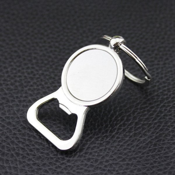 Beer Bottle Opener Key Rings DIY For 25mm Glass Cabochon Keyrings Engraving Gifts Zinc Alloy Kitchen Bar Tools Men Gifts Jewelry Wholesale
