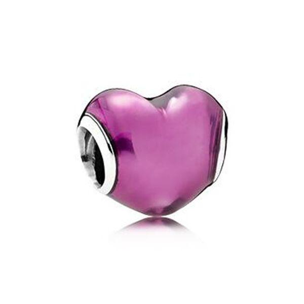 WinTion PAN 100% S925 sterling silver new bracelet beads, original charm trend purple heart-shaped zircon female gift beaded
