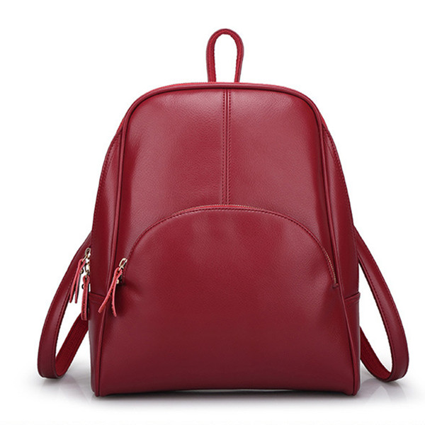 2018 High Quality Fashion Travel Bag Backpack Women Genuine Leather Bags Brand Designer Backpacks Hot Sell for Girl Free Shipping