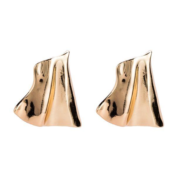 alloy drop Earrings for women 2018 Luxury boho personality small Fold Dangle earrings gold silver plated Vintage geometric Jewelry wholesale