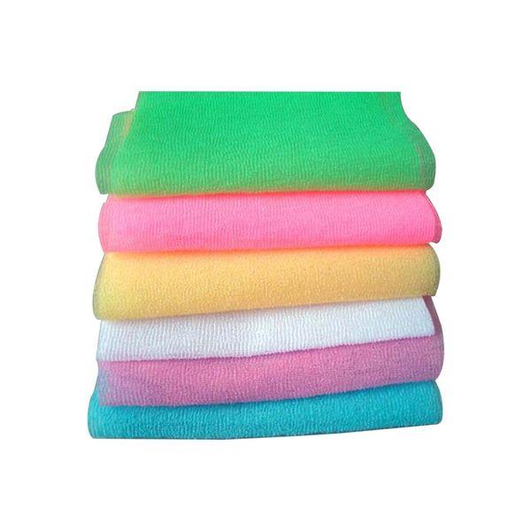 2018 New Nylon Scrubbing Cloth Towel Bath Shower Body Cleaning Washing Sponges Scrubbers Bathroom Tool