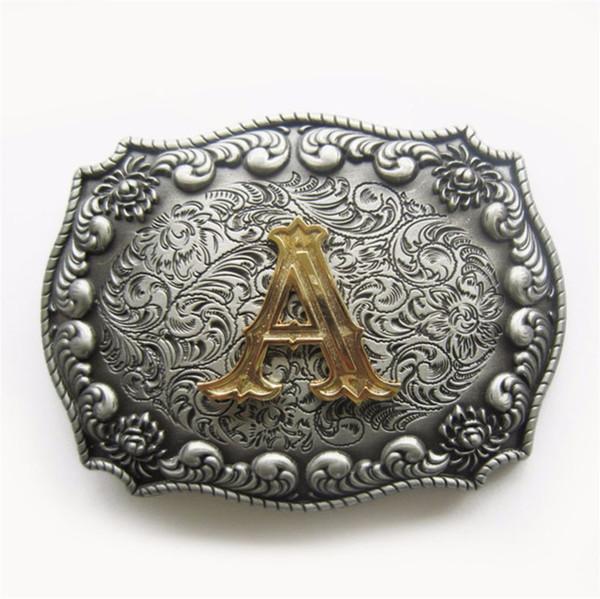 Western Cowboy Cowgirl Original Anfangsbuchstaben Gürtelschnalle Lager in US Gurtelschnalle Boucle de Ceinture Schiff aus den USA und CN
