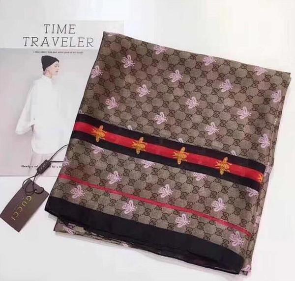 Nouvelle mode luxe femmes femmes foulard en soie plage châle et Echarpe Wrap concepteur foulards Plus la taille femme plage a volé bandana