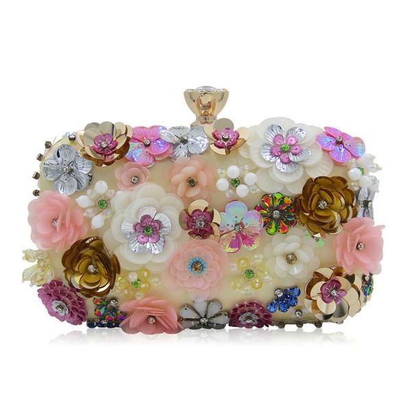Luxus Kristall Clutch Abendtasche Blumen Party Geldbörse Frauen Hochzeit Braut Handtasche Beutel Soiree Pochette Tasche Sg131