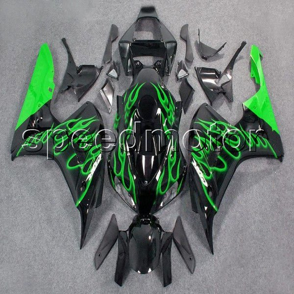 23colors+Gifts Injection mold green flames motorcycle cover Fairing for HONDA 2006 2007 CBR1000RR 1000RR CBR 06 07 ABS plastic kit