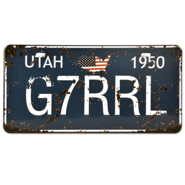 Utah 1950 Metal Tin Sign G7RRL Licence Plate Vintage Wall Art Painting Plaque Bar Pub Club Iron Poster Home Decoration Y18102409