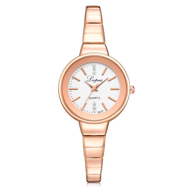 DHL Wholesale Lvpai Brand Cheap Fashion Quartz Dress Rhinestone Watch Women Watches Ladies Bracelet Dress Wristwatches Steel Watch P300