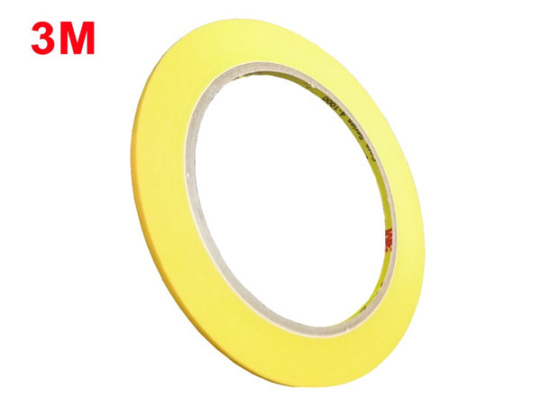 best selling Slim 4mm *50Meters, 3M244 Hi-Temp Masking Tape Car Painting Refinish Electronic Protection 3M Single Sided Tape 2016