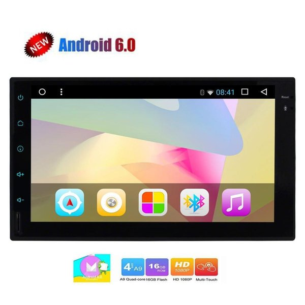 top popular Android Car video Stereo Radio Double 2 Din In Dash Head Unit Quad Core 7 inch Support GPS Navigation Bluetooth Autoradio FM AM 2021