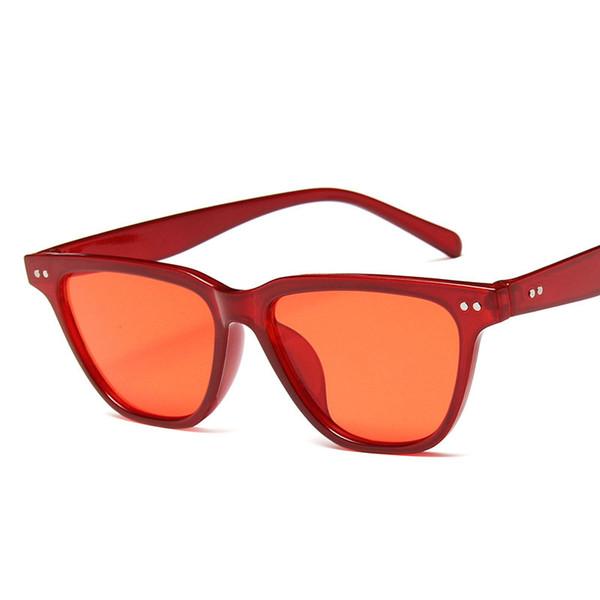 Vintage Small Square Sunglasses Women Brand Designer Retro Sunglass Rectangle Sun Glasses Female Candy Color Eyewears FML