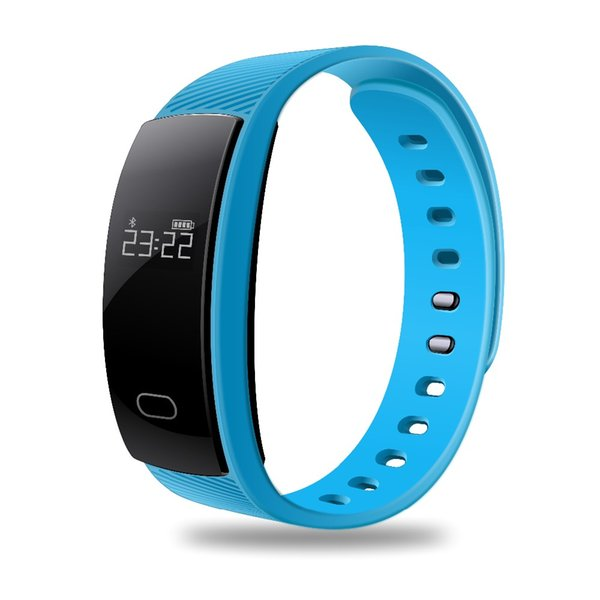 2018 QS80 Smart Bracelet Fitness Tracker Wristband with Heart Rate Smart Watch Passometer Call Reminder for IOS Android with Retail Box