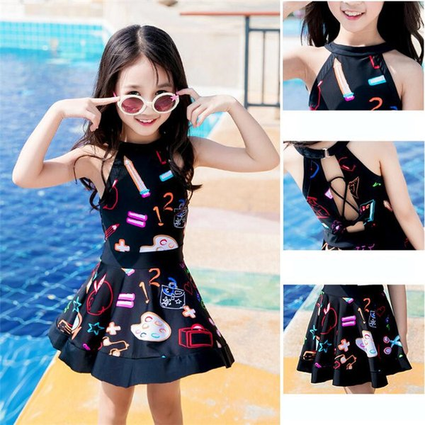 Baby Girl Swimwear Cute princess dress baby Swimsuit princess bathing suit Beachwear Bodysuit Girls cartoon One-Pieces Swimwear