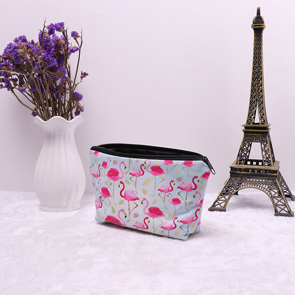 New Arrival Cute Pink Flamingo School Pencil Cases Stationery High Capacity Pencilcase Kawaii Bag Girls Pencil Case For Gift