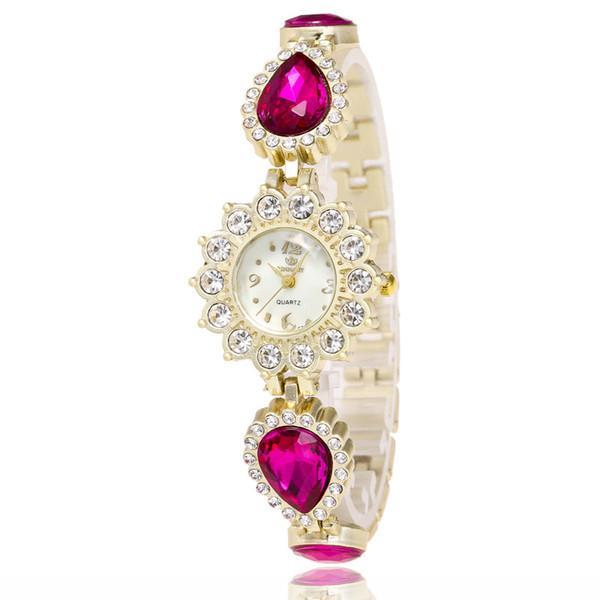 Relojes de cuarzo de lujo Marca Relojes de moda diamante Relojes de pulsera hermosa mujer