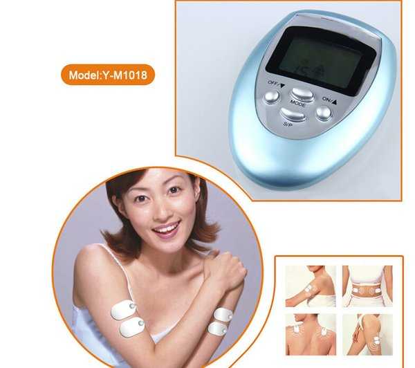 Best selling Low Frequency Electric mini tens Slimming massager with 4 pads full body mini massager