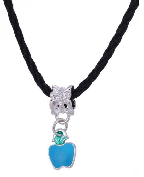 Myshape Newest,Hotselling,Dropshipping,Fashion Zinc Alloy Colorful Enamel Chrismas Apple Big Hole Dangle Charm Necklace