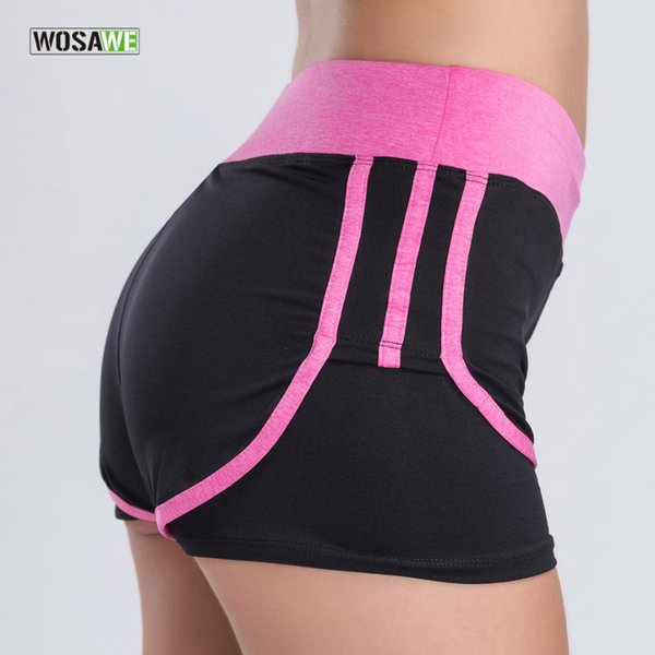 WOSAWE Women Running Shorts Female Loose Pink Sports Fitness Cotton Gym Sweatpants Workout Clothes Yoga Shorts
