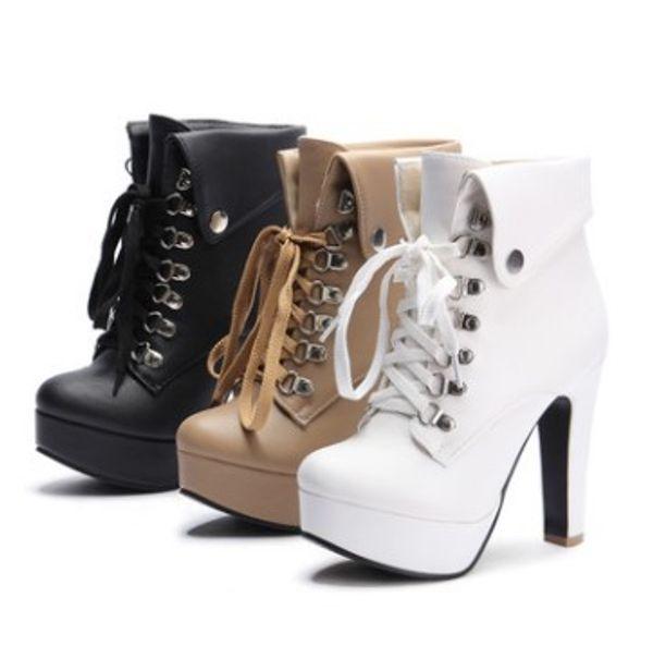 wholesaler free shipping factory price hot seller ankle women high heel platform Martin women lady boot