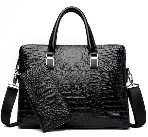 New Luxury handbag Arrival Famous Brand Business Men Briefcase Bag PU Leather Laptop Bag Briefcase Male PU Leather Shoulder bags