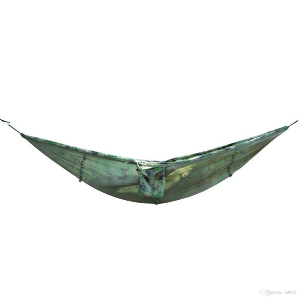 270*140CM Portable Hammock High Elastic Hanging Bed With Mosquito Net Nylon Hammocks For Outdoor Camping Hiking Travel Use 45kn ZZ