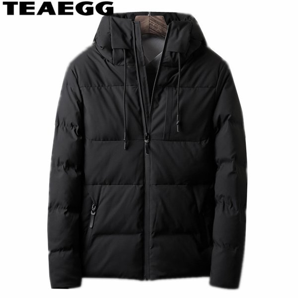 TEAEGG Winter Jacket Men Hooded Warm Cotton Mens Winter Jackets And Coats Plus Size 4XL Casual Men Parkas Hombre Invierno AL1498