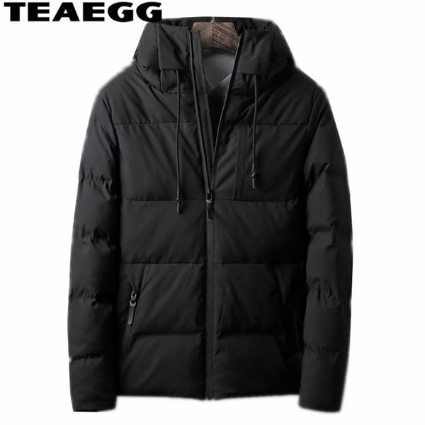 TEAEGG Зимняя Куртка Мужская Теплая Хлопковая Мужская Зимняя Куртка И Пальто Плюс Размер 4XL Повседневная Мужская Парка Hombre Invierno AL1498