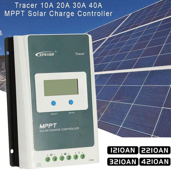 [Genuine] Controlador de Carga MPPT Controlador de Energia Solar 1210AN 2210AN 3210AN 4210AN Com LCD Medidor MT50 12 V 24 V PV Interruptor Regulador