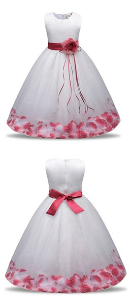 Dress Summer Girl Clothing 2018 Baby Wedding Veil Dresses Kids Wear Costume Party For Girls Clothes Free shipping