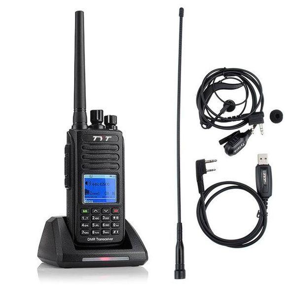 TYT GPS UHF 400-480MHz IP67 1000 Channels Waterproof DMR Digital Two way Radio Walkie Talkie Transceiver Programming Cable CD md390