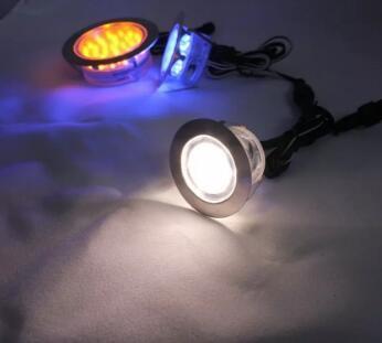 45mm (1.8inches) Diamètre Rond En Acier Inoxydable Led Lumière De Pont Pour Jardin Lampe Villa Pont Souterrain DC12V 1W 6 PCS + pilote / lot