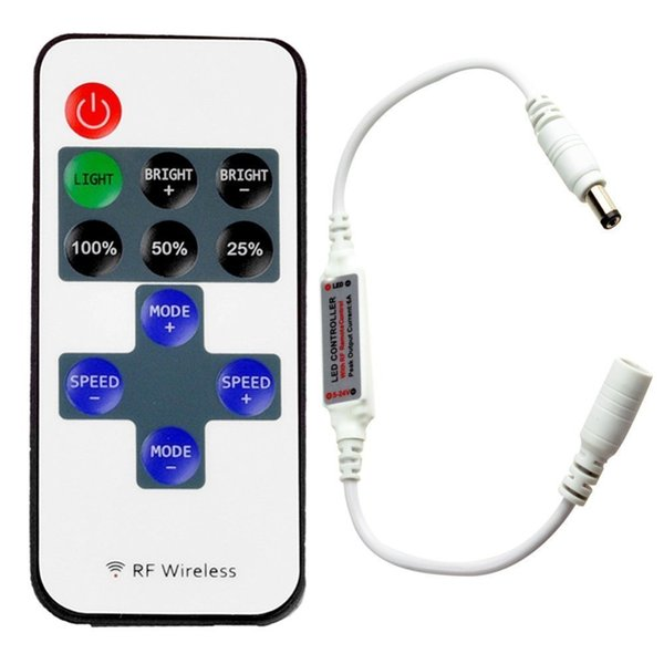 1Pc Mini RF Wireless Remote Controller Led Dimmer Controller For Single Color Light Strip SMD5050/3528/5730/5630/3014