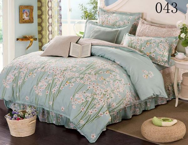 Cotton Bed Skirt Bedding Set Bed Skirt Duvet Cover Pillowcase