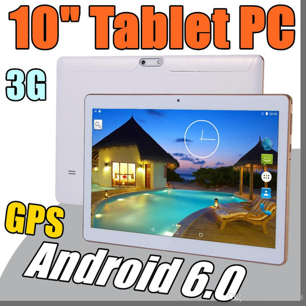 "2018 10 "" 10 inch Tablet PC MTK6582 Octa Core Android 6.0 4GB RAM 64GB ROM Phable IPS Screen GPS 3G phone Tablets E-10PB"