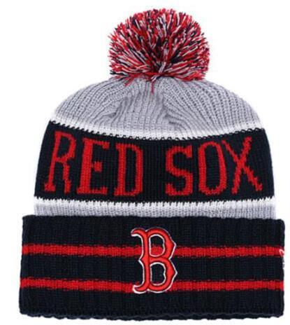 Discount Boston Beanie SOX Sideline Cold Weather Graphite Official Revers Sport Knit Hat All Teams winter Warm Knitted Wool Skull Cap