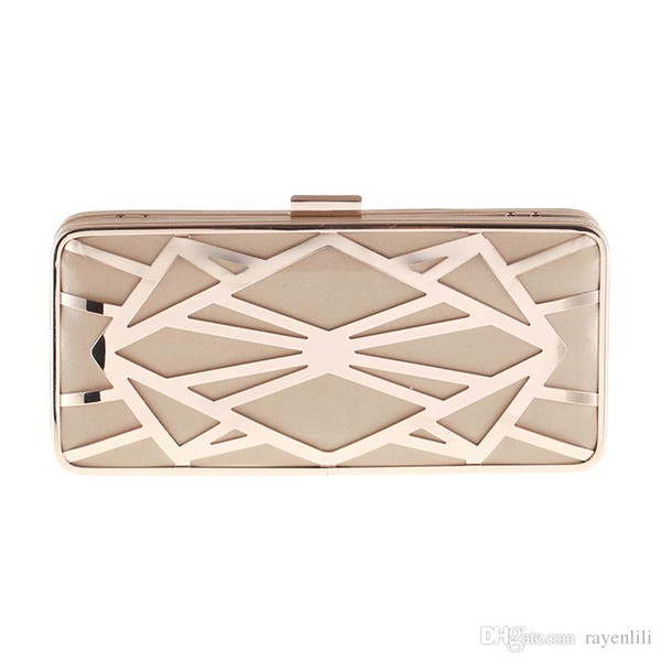 Top Fashion European And American Style Women Sequined Hollow Out Evening Bags Trunk Geometric Clutch Handbags Smyxst-e0083