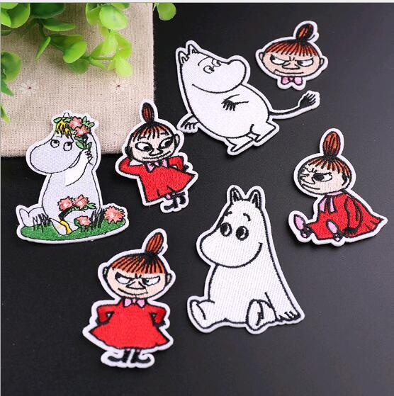 Cute angry girl small animal clothes decorative patch stickers embroidery cloth stickers embroidery