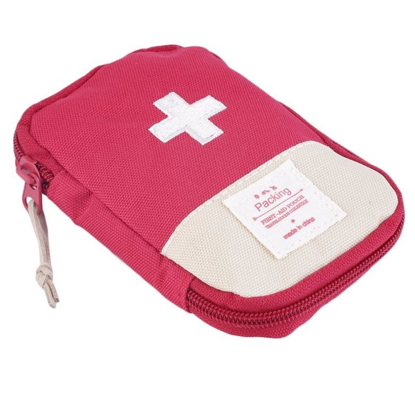Mini Empty Outdoor Camping First Aid kit Emergency Medicine Bag Home Survival Portable Striking Cross Symbol First Aid Kit Bag