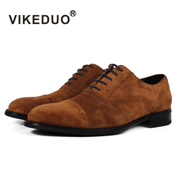 Vikeduo 2017 hot Original Design Handmade Custom Luxury Fashion dress dance party Casual Genuine Leather Flat Men Oxford Shoes