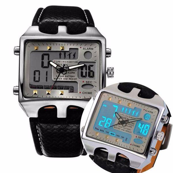 Fashion Date  Sports Stainless Steel Case Quartz Wrist Watch For Men