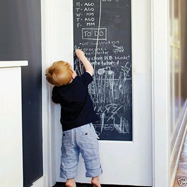 2018 New Chalk Board Tableau Noir Autocollants Amovible Vinyle Dessiner Décorations Murales Stickers Art Tableau Wall Sticker Pour Enfants