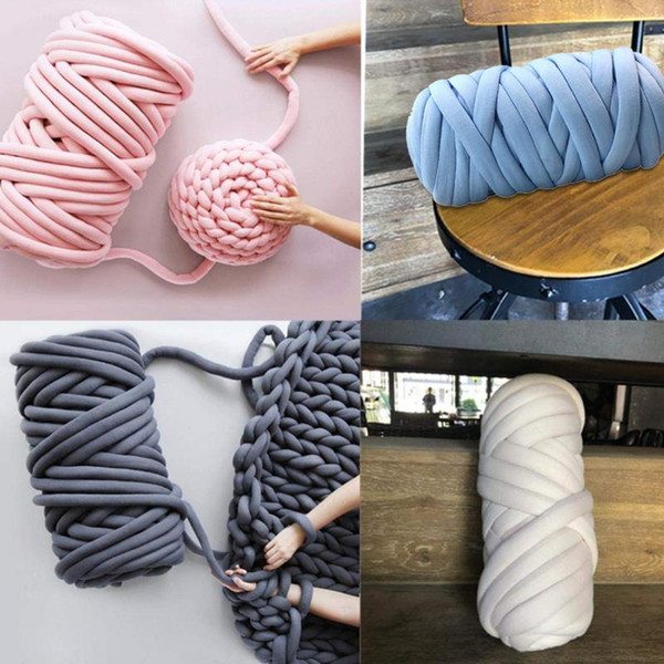 top popular 500g pcs Thick Chunky Yarn for Hand Knitting DIY Crochet Anti pilling Pet Cat Dog Kennel Weave Carpet Dog Bed Blanket Pillow Yarn 2021