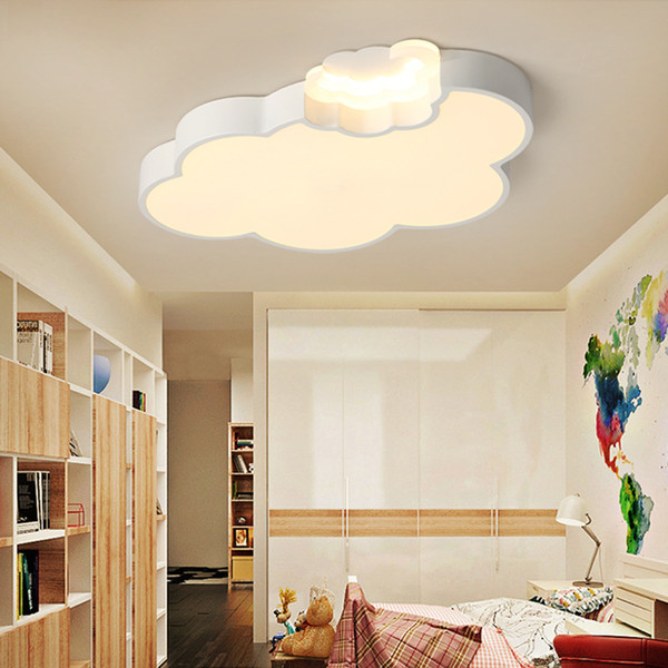 2019 Art Deco LED White Cloud Kids\' Room Lighting Children\'S Acylic Ceiling  Lights With Dimming Remote Control Bedroom Hanging Lamps RNB47 From Roon,  ...