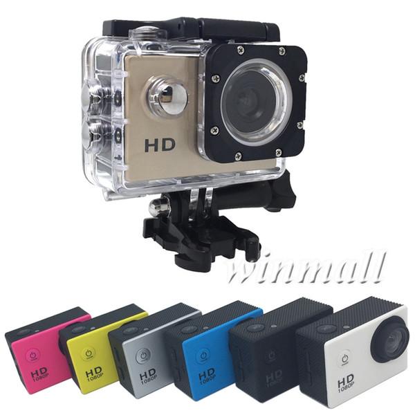 Moins cher A9 SJ4000 1080P Full HD Action Sport Caméra numérique Écran 2 pouces sous étanche 30M DV enregistrement Mini Sking Bicycle Photo Vidéo
