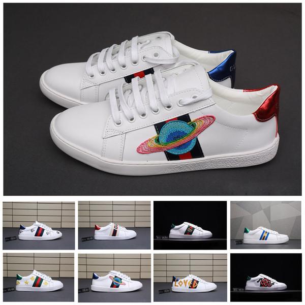 competitive price e3dc0 debad Acquista GUCCI Shoes Gucci Men Shoes Scarpe Da Uomo Di Design Scarpe Di  Lusso Bianche Scarpe Da Ginnastica Casual Donna Zapatos Belle Scarpe Da  Ricamo ...
