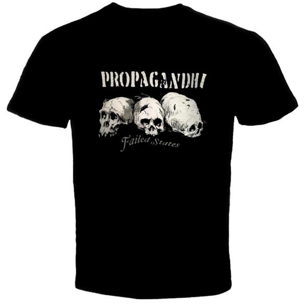 Propagandhi - États défaillants T-shirt T-shirt Homme T-shirt en Coton Hip Hop Coton Noir Imprimé