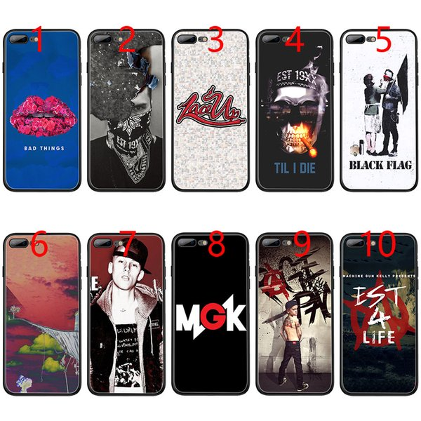 Machine Gun Kelly Soft Black TPU Phone Case for iPhone XS Max XR 6 6s 7 8 Plus 5 5s SE Cover
