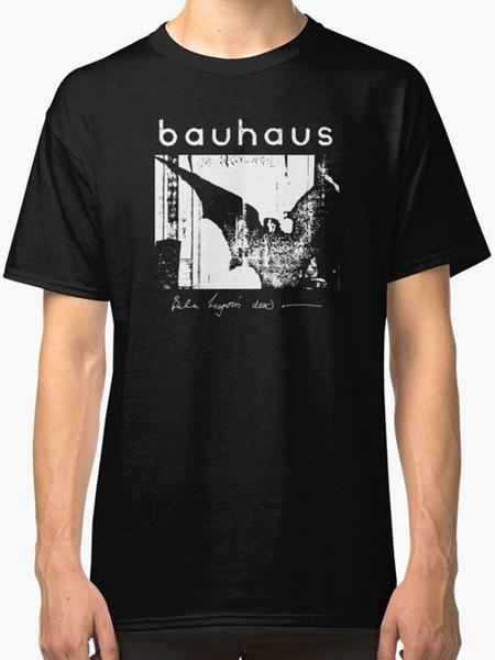 Bauhaus крылья летучей мыши бела Lugosi мертвый новый футболка мужская черный тройники рубашка мужчины Мужской костюм белый с коротким рукавом пользовательские 3XL партии Camiseta