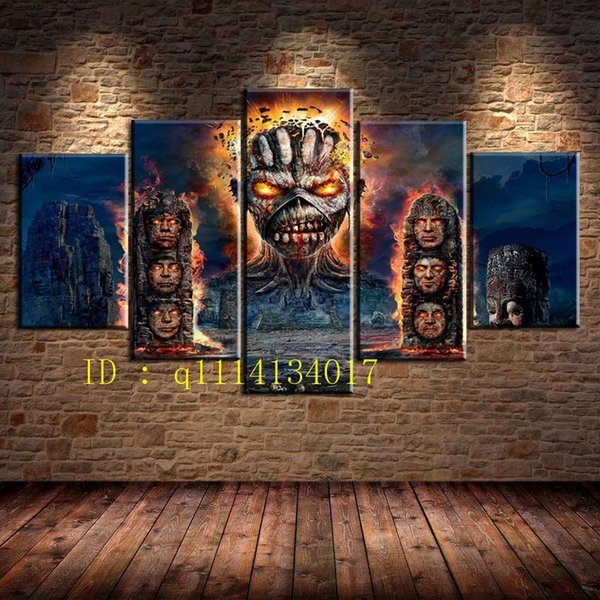 Großhandel Iron Maiden Ruins Monster, 5 Stück Leinwand Wandkunst Ölgemälde Home Decor Ungerahmt Gerahmt Von Q1114134017, $15.38 Auf De.Dhgate.Com