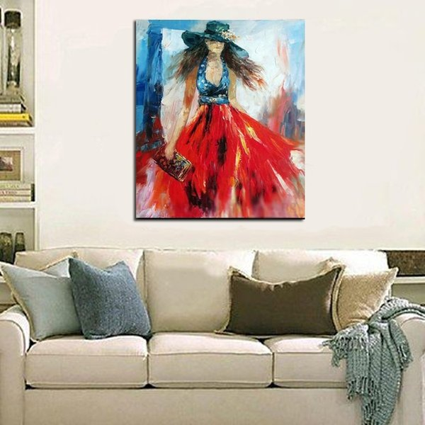 Handmade Women Oil Painting Fine Art Impressionistic Canvas Painting Art Picture Modern Art Wall Home Decor Pictures